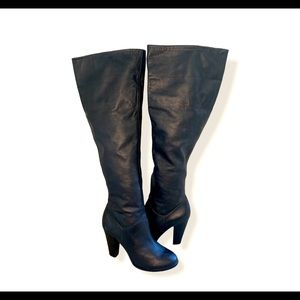 Colin Stuart leather knee high boots